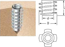 Cone- Shaped E Insert Nuts